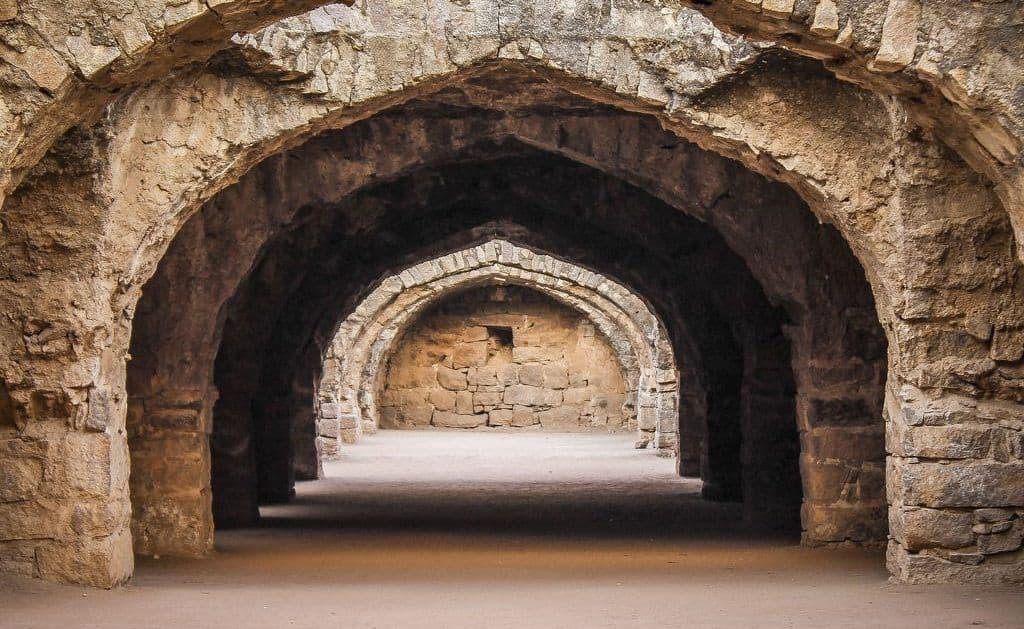 Arco Tudor en el Fuerte Golconda